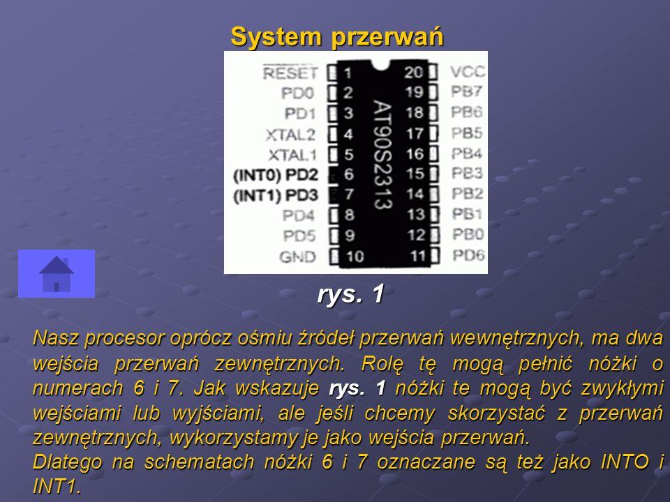 System przerwań System przerwań rys.1 rys.