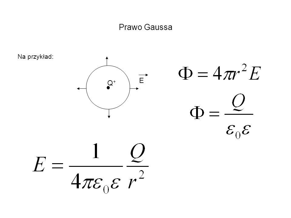 Prawo Gaussa Na przykład: Q+Q+ E