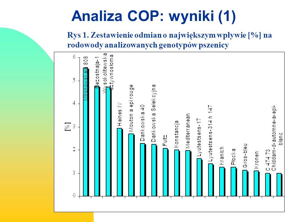 I II III IV V VI VII Analiza COP: wyniki (2)