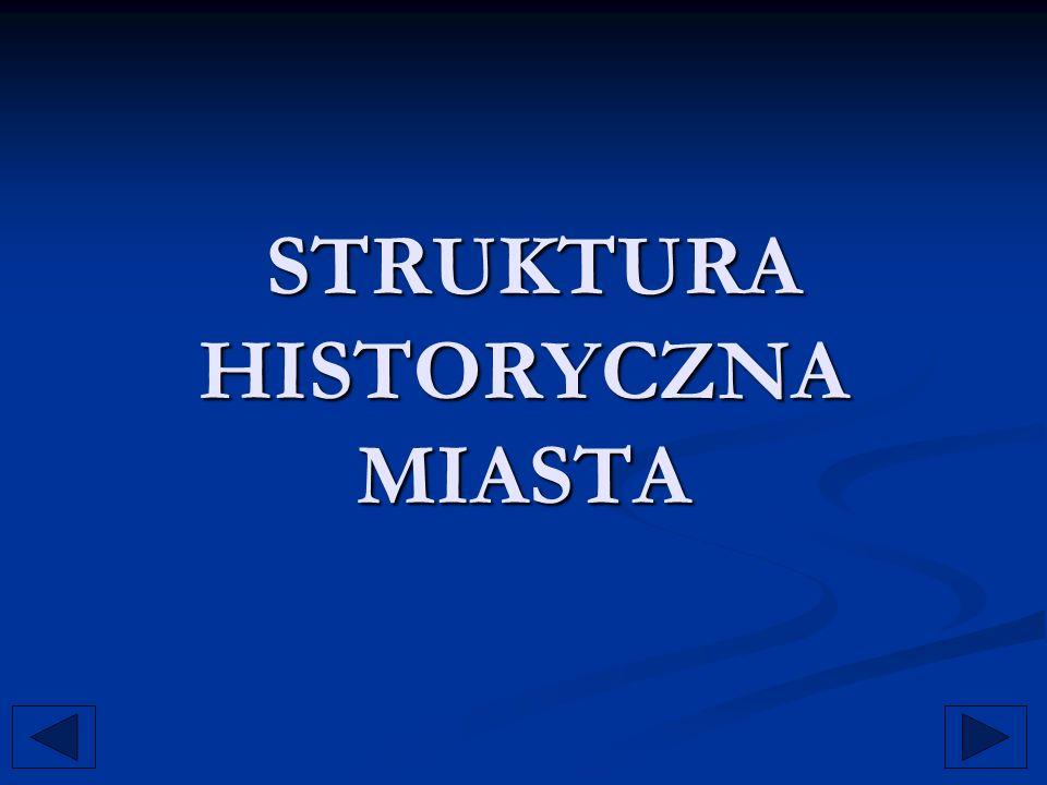 STRUKTURA HISTORYCZNA MIASTA STRUKTURA HISTORYCZNA MIASTA