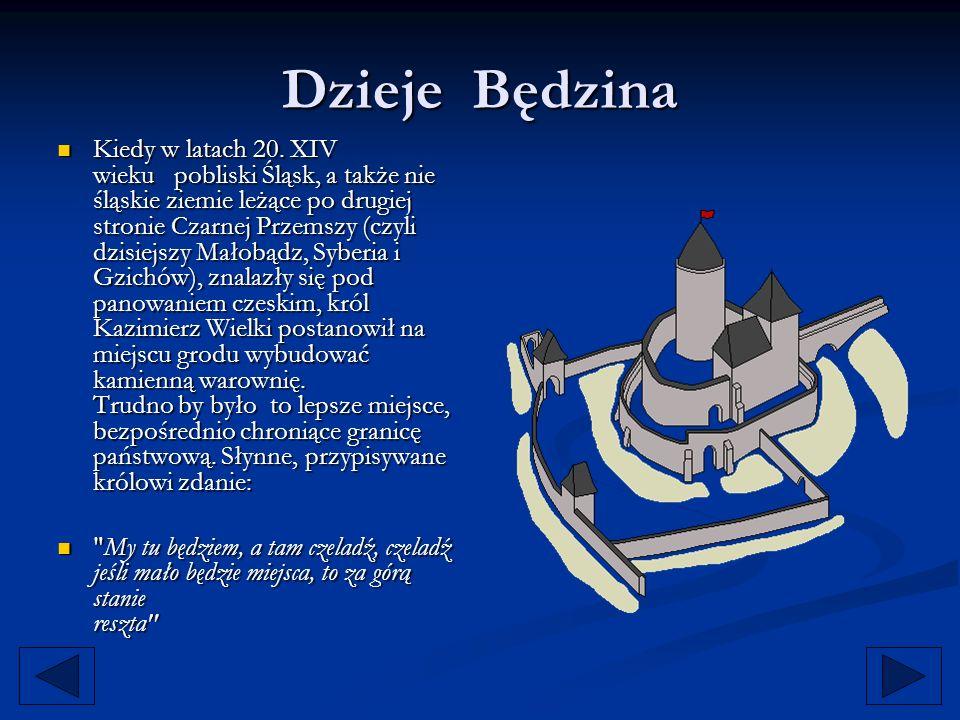 Dzieje Będzina Kiedy w latach 20. XIV wieku pobliski Śląsk, a także nie śląskie ziemie leżące po drugiej stronie Czarnej Przemszy (czyli dzisiejszy Ma