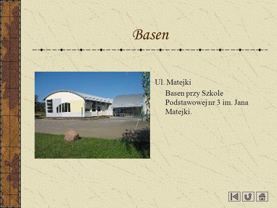 Ul. Matejki Basen przy Szkole Podstawowej nr 3 im. Jana Matejki. Basen