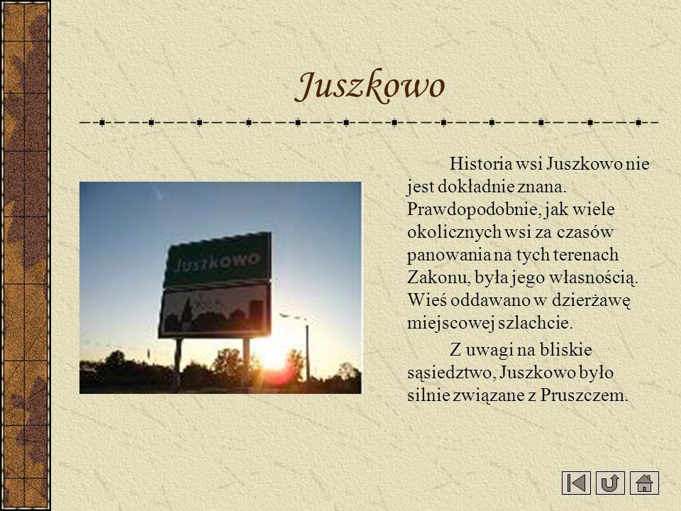 Historia wsi Juszkowo nie jest dokładnie znana. Prawdopodobnie, jak wiele okolicznych wsi za czasów panowania na tych terenach Zakonu, była jego własn