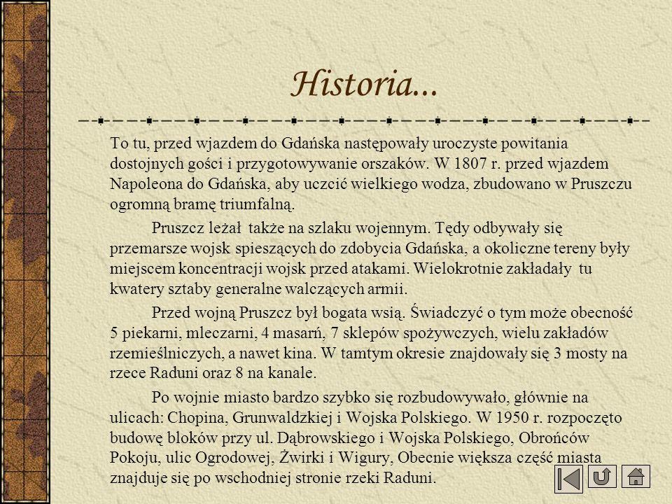 To tu, przed wjazdem do Gdańska następowały uroczyste powitania dostojnych gości i przygotowywanie orszaków. W 1807 r. przed wjazdem Napoleona do Gdań