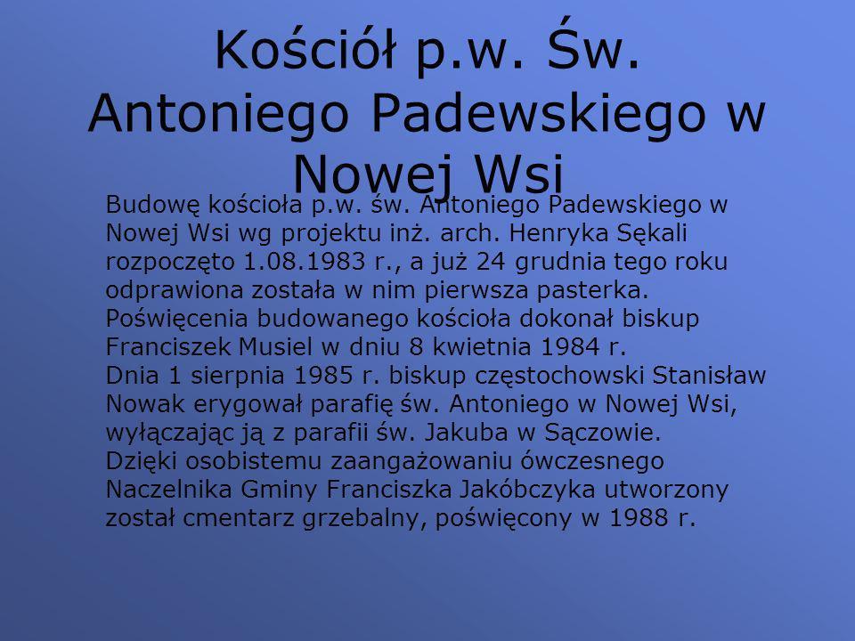 Kościół p.w.Św. Antoniego Padewskiego w Nowej Wsi Budowę kościoła p.w.