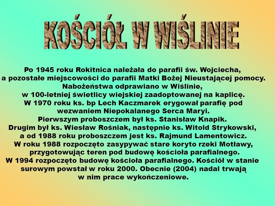 Po 1945 roku Rokitnica należała do parafii św. Wojciecha, a pozostałe miejscowości do parafii Matki Bożej Nieustającej pomocy. Nabożeństwa odprawiano