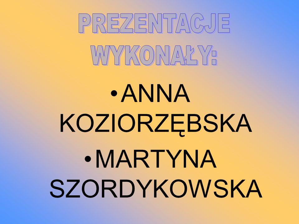 ANNA KOZIORZĘBSKA MARTYNA SZORDYKOWSKA