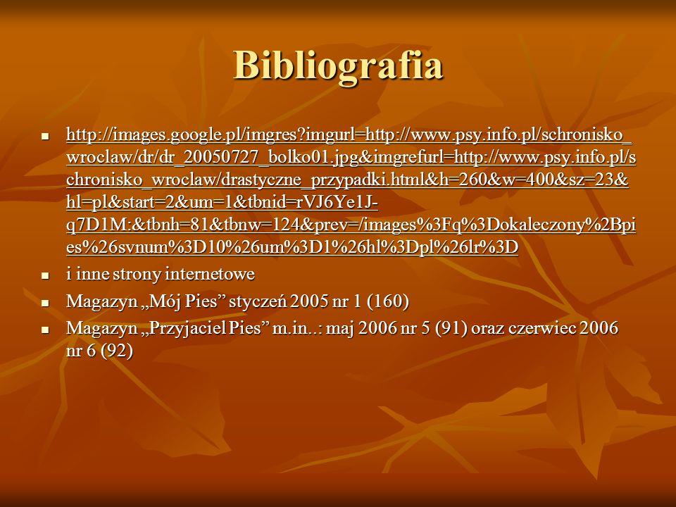 Bibliografia http://images.google.pl/imgres?imgurl=http://www.psy.info.pl/schronisko_ wroclaw/dr/dr_20050727_bolko01.jpg&imgrefurl=http://www.psy.info