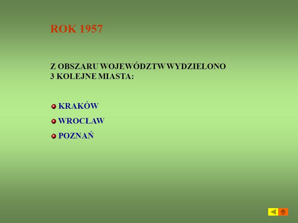 Rok 1975 Utworzono 49 województw obejmujących 2072 gminy Zlikwidowano pośredni szczebel administracyjny czyli powiaty Warszawa uzyskała status województwa stołecznego, a Łódź i Kraków zostały tzw.