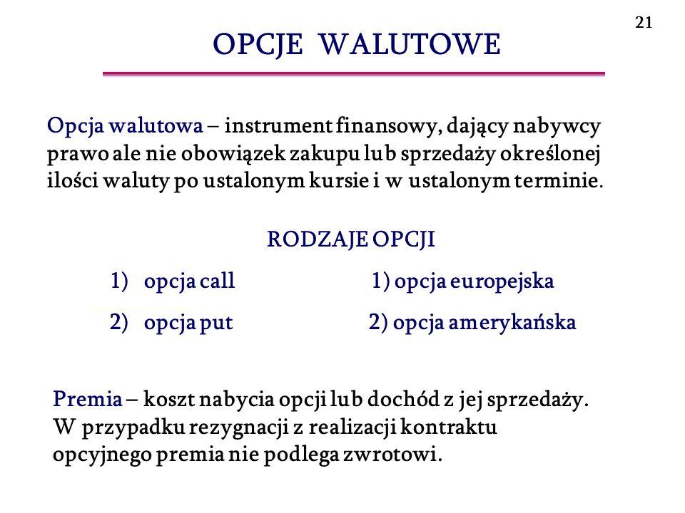 22 1) long call 2) long put PROSTE STRATEGIE OPCYJNE 1) short call 2) short put Kurs realizacji opcji (strike price) ATM (at-the-money) – jeżeli w terminie wykonania opcji kurs realizacji opcji jest równy kursowi spot waluty bazowej.