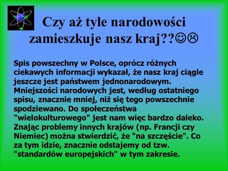 Czy aż tyle narodowości zamieszkuje nasz kraj?? Spis powszechny w Polsce, oprócz różnych ciekawych informacji wykazał, że nasz kraj ciągle jeszcze jes