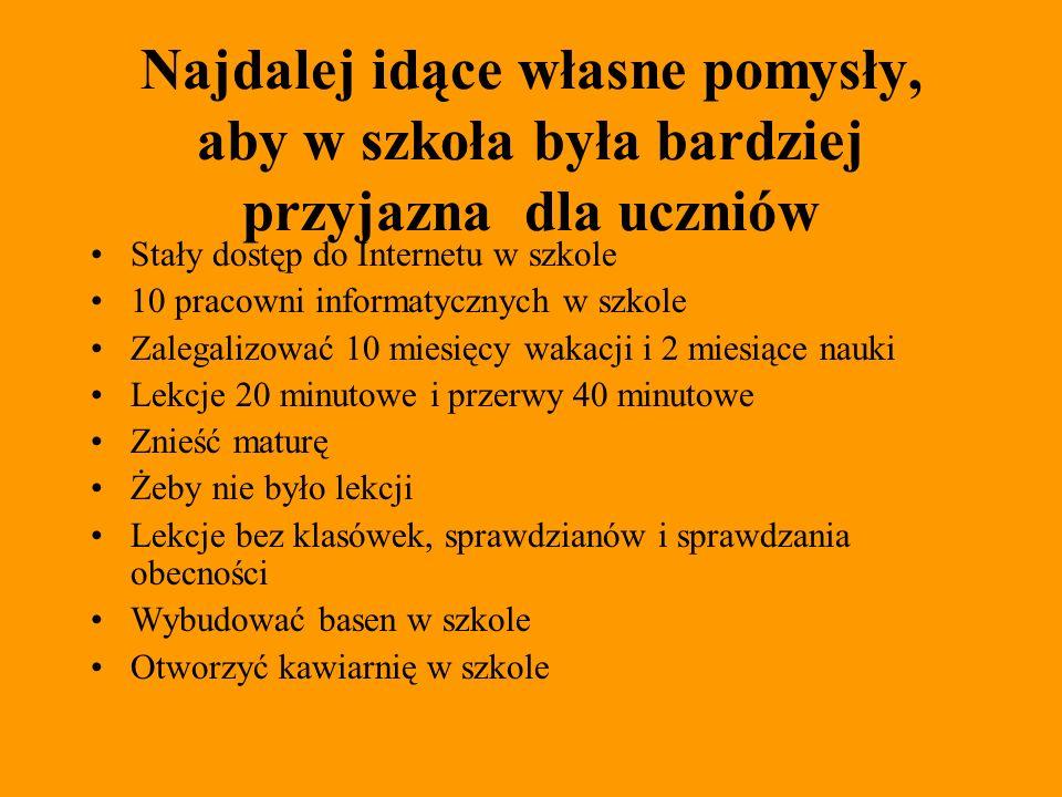 Jak widzą polską szkołę rodzice ( ankieta i opracowanie) Ankieta dla rodziców (zakreśl odpowiedź) ORANGE DLA ZIEMI 1) Czy pana/ pani zdaniem syn/córka w pełni realizuje swoje możliwości w szkole.