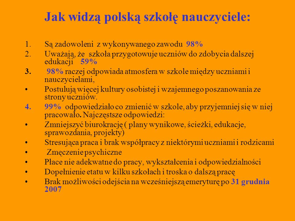 Podsumowanie: Polska szkoła XXI wieku się zmienia.