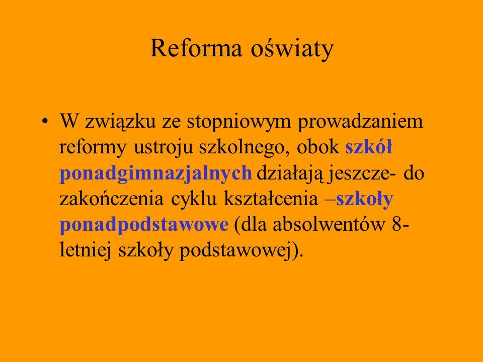 Prowadzenie szkół w Polsce Szkoły i placówki mogą być publiczne, niepubliczne o uprawnieniach szkoły publicznej, jeżeli realizuje minimum programowe oraz stosuje zasady klasyfikowania i promowania uczniów ustalone przez Ministra Edukacji Narodowej i Sportu, umożliwiające uzyskanie świadectw lub dyplomów państwowych.