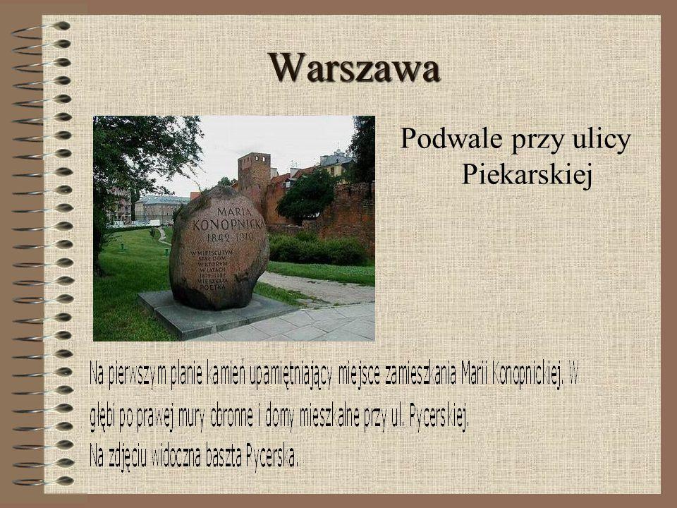Warszawa Podwale przy ulicy Piekarskiej