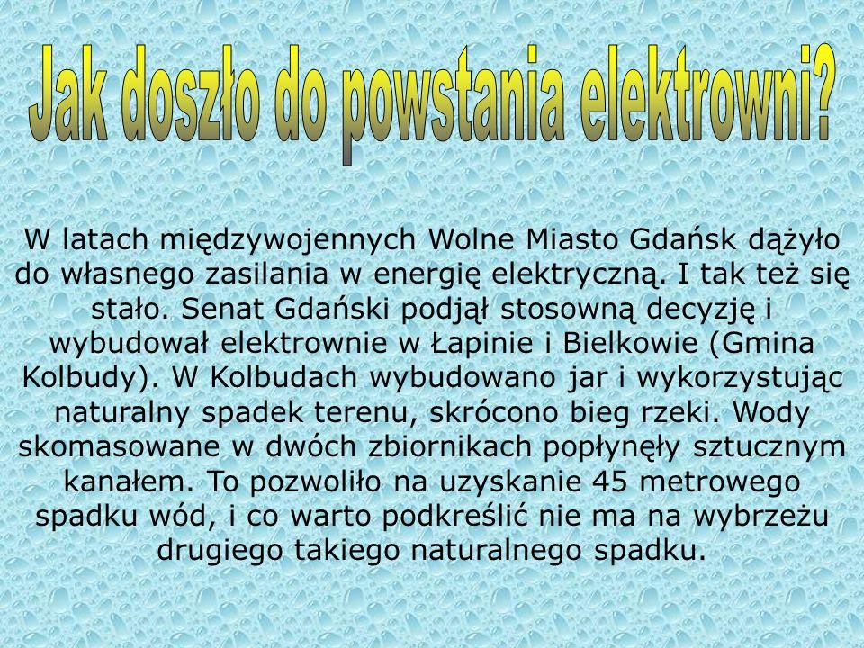 W latach międzywojennych Wolne Miasto Gdańsk dążyło do własnego zasilania w energię elektryczną.