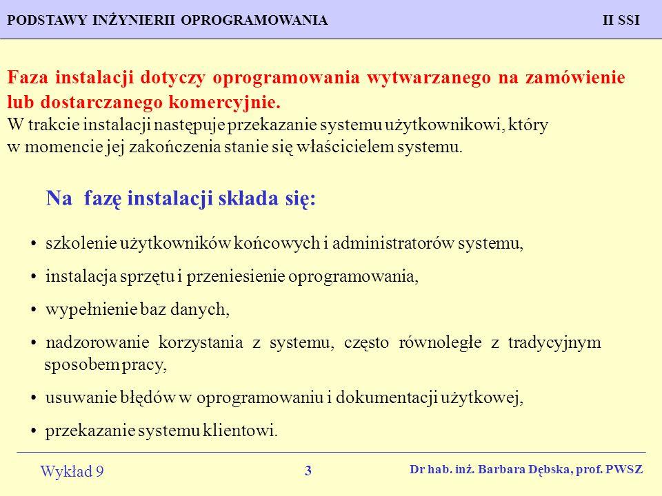 3 Wykład 9 PROGNOZOWANIE WŁAŚCIWOŚCI MATERIAŁÓW Inżynieria Materiałowa METODOLOGIA TWORZENIA APLIKACJI KOMPUTEROWYCH II SSIPODSTAWY INŻYNIERII OPROGRAMOWANIAII SSI Dr hab.