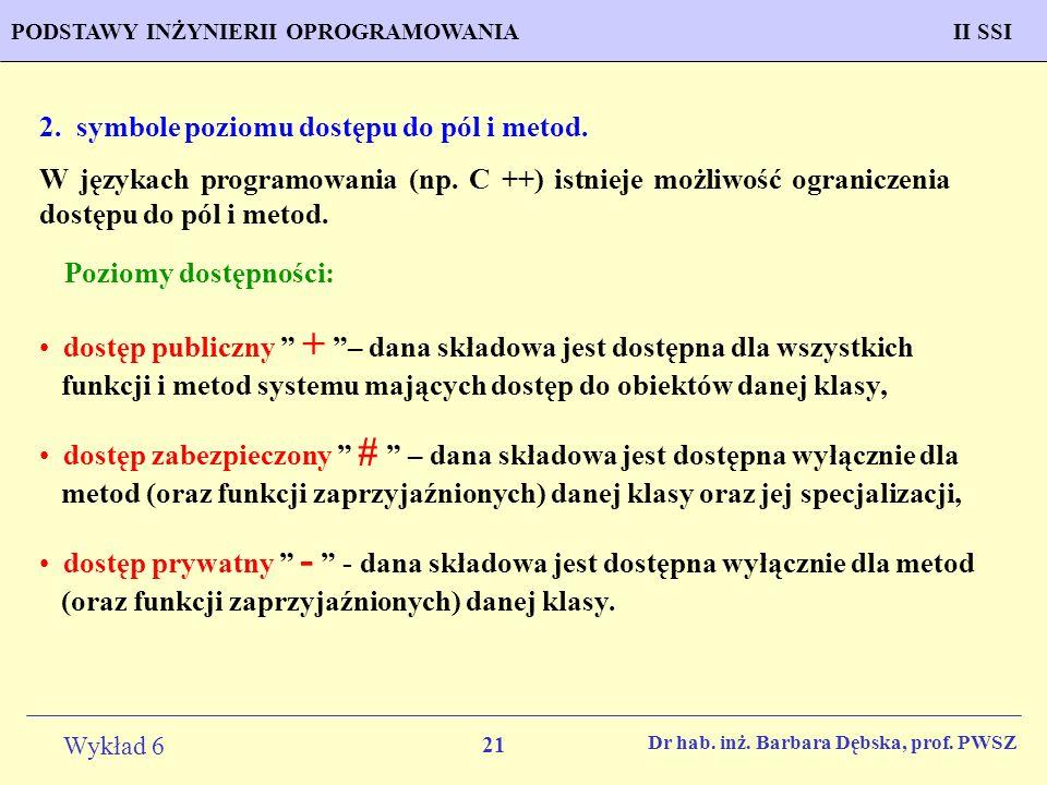 21 Wykład 6 PROGNOZOWANIE WŁAŚCIWOŚCI MATERIAŁÓW Inżynieria Materiałowa METODOLOGIA TWORZENIA APLIKACJI KOMPUTEROWYCH II SSIPODSTAWY INŻYNIERII OPROGR