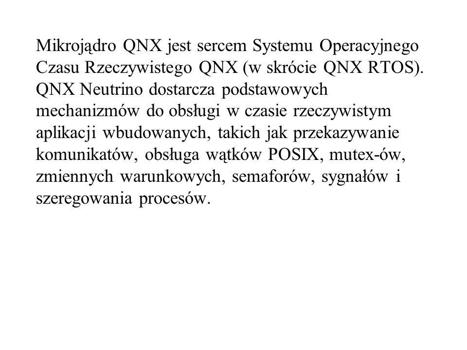 Mikrojądro QNX jest sercem Systemu Operacyjnego Czasu Rzeczywistego QNX (w skrócie QNX RTOS). QNX Neutrino dostarcza podstawowych mechanizmów do obsłu