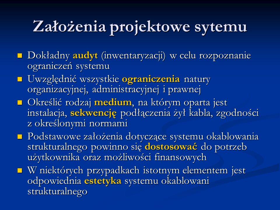 Założenia projektowe sytemu Dokładny audyt (inwentaryzacji) w celu rozpoznanie ograniczeń systemu Dokładny audyt (inwentaryzacji) w celu rozpoznanie o