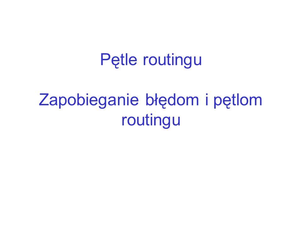 Pętle routingu Zapobieganie błędom i pętlom routingu
