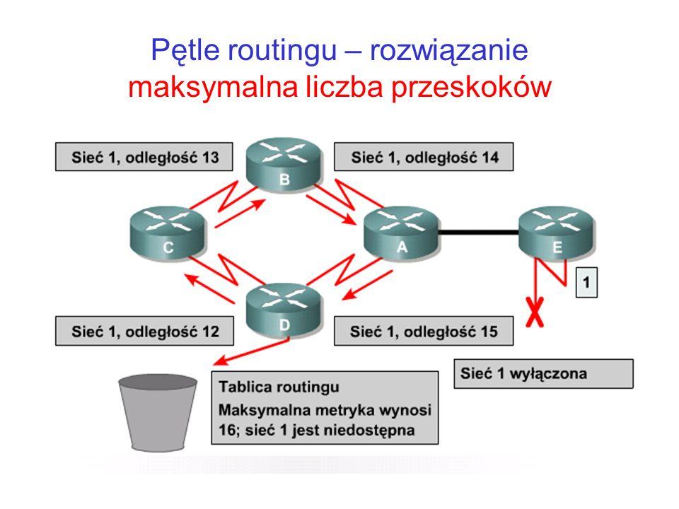 Pętle routingu – rozwiązanie maksymalna liczba przeskoków