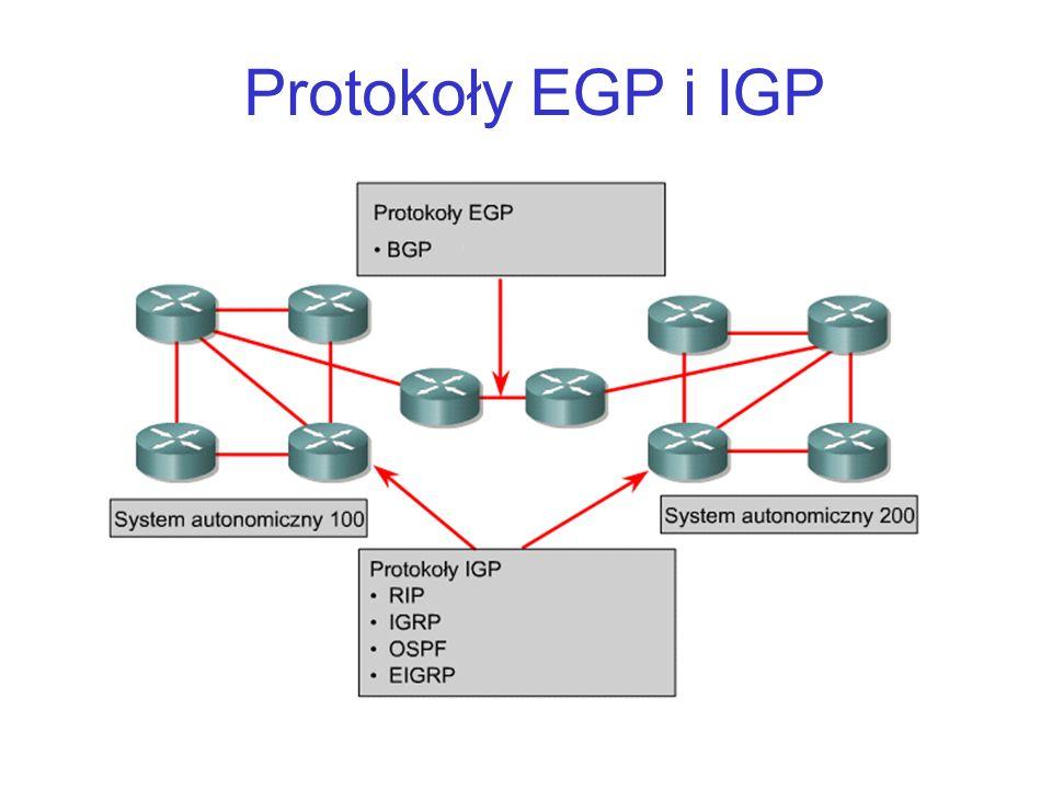 Protokoły EGP i IGP
