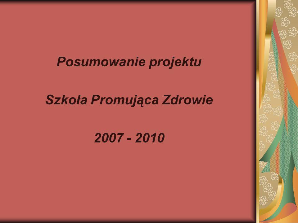 Posumowanie projektu Szkoła Promująca Zdrowie 2007 - 2010