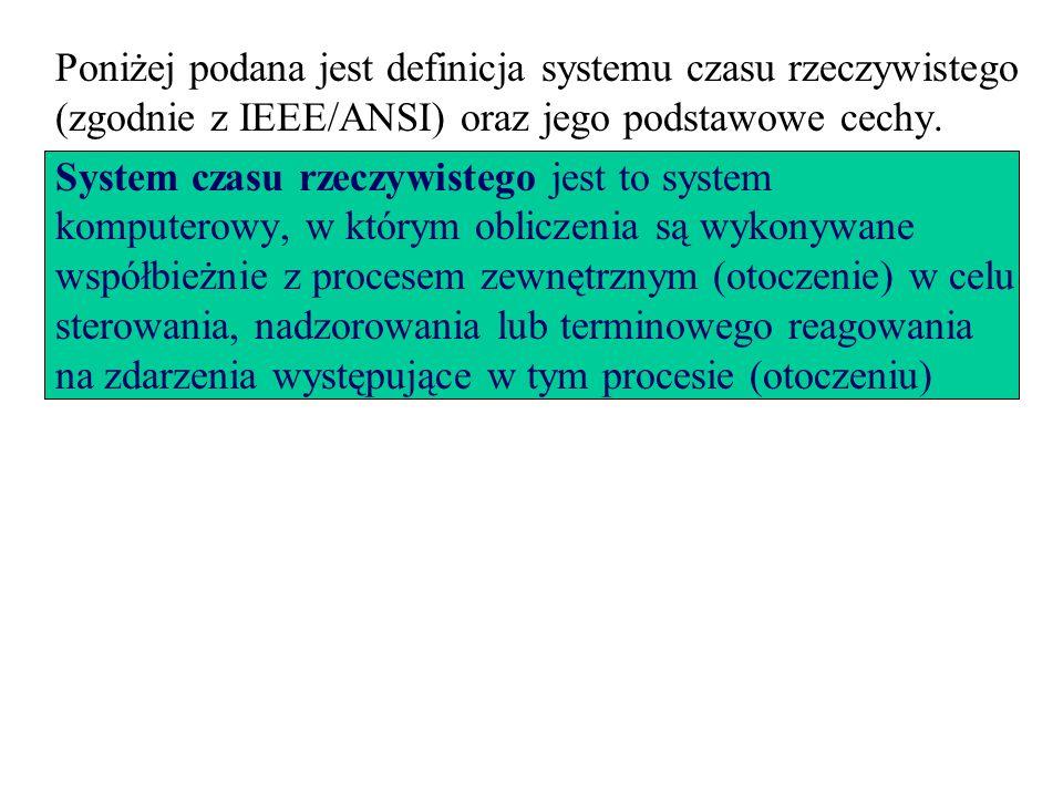 Poniżej podana jest definicja systemu czasu rzeczywistego (zgodnie z IEEE/ANSI) oraz jego podstawowe cechy. System czasu rzeczywistego jest to system