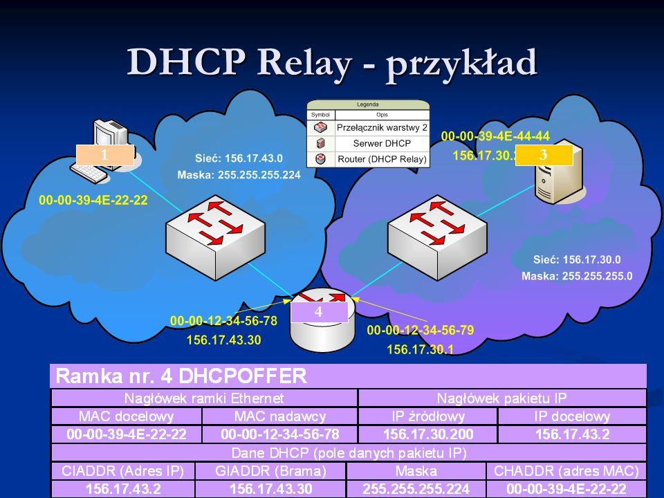 DHCP Relay - przykład 1 2 3 4