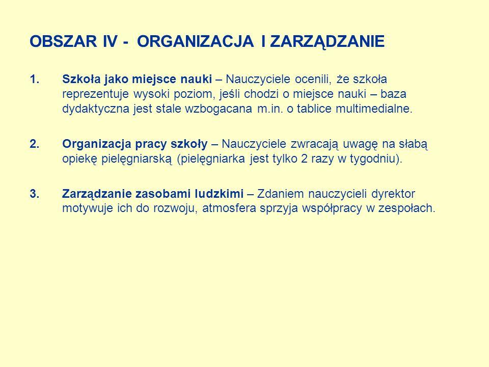 OBSZAR II - NAUCZANIE I UCZENIE SIĘ, WYCHOWANIE Uatrakcyjnienie metod pracy na zajęciach lekcyjnych, stosowanie metod aktywizujących.