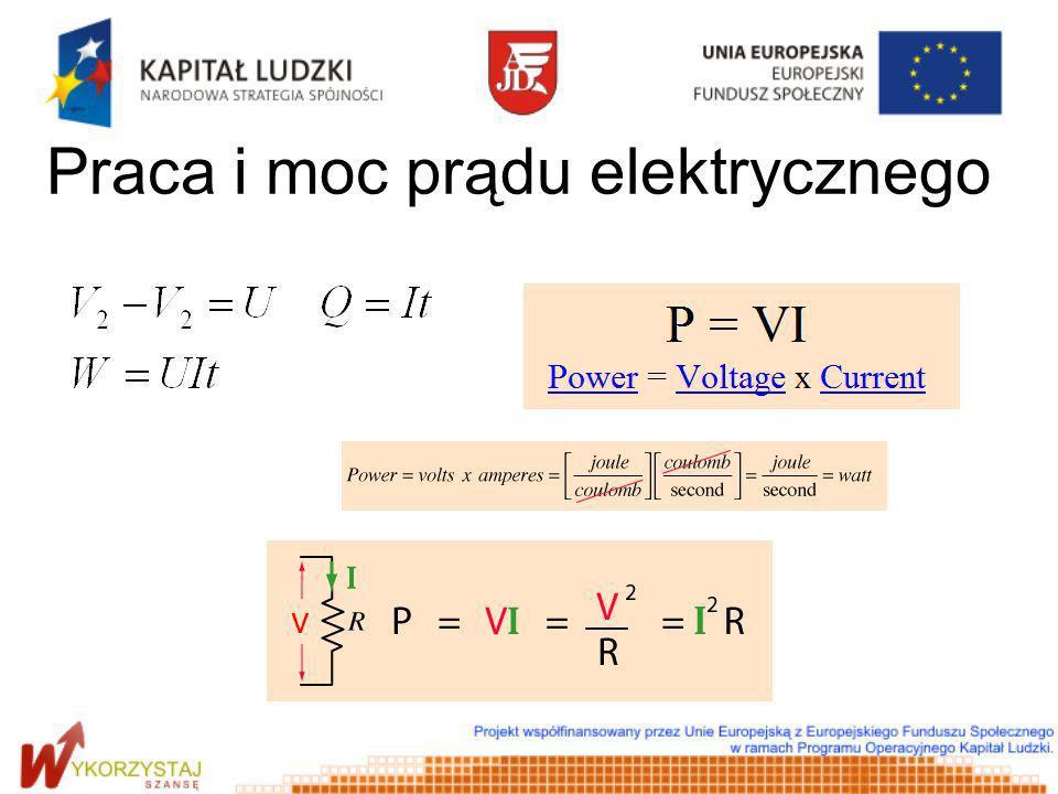 Praca i moc prądu elektrycznego