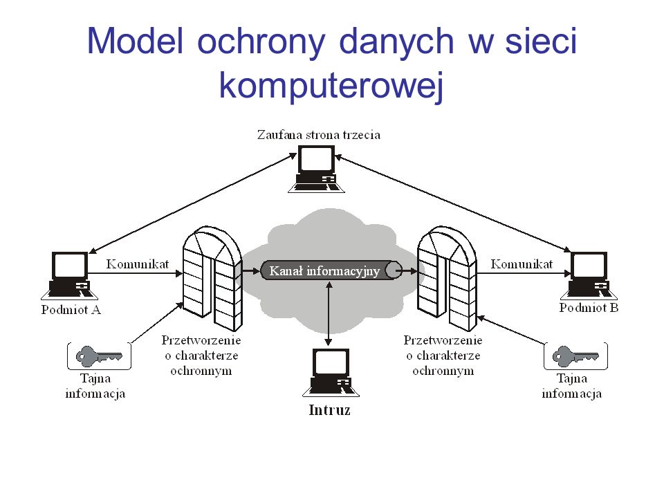 Model ochrony danych w sieci komputerowej