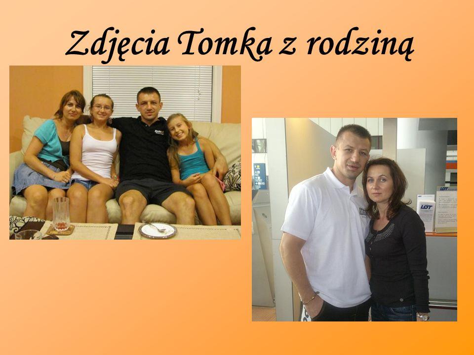 Zdjęcia Tomka z rodziną