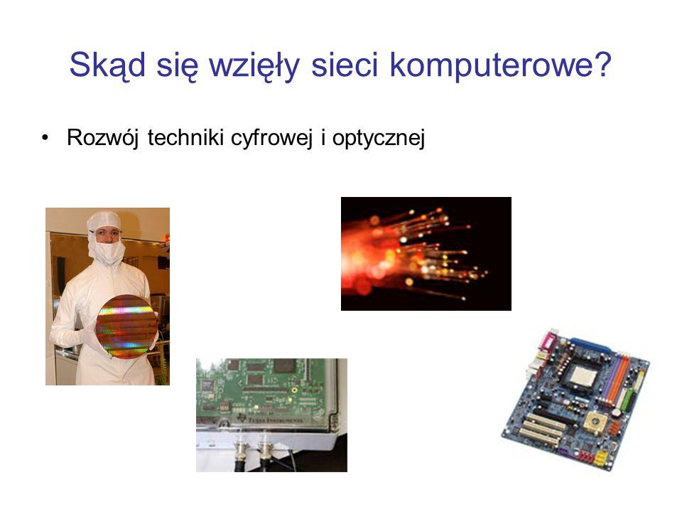Skąd się wzięły sieci komputerowe? Rozwój techniki cyfrowej i optycznej