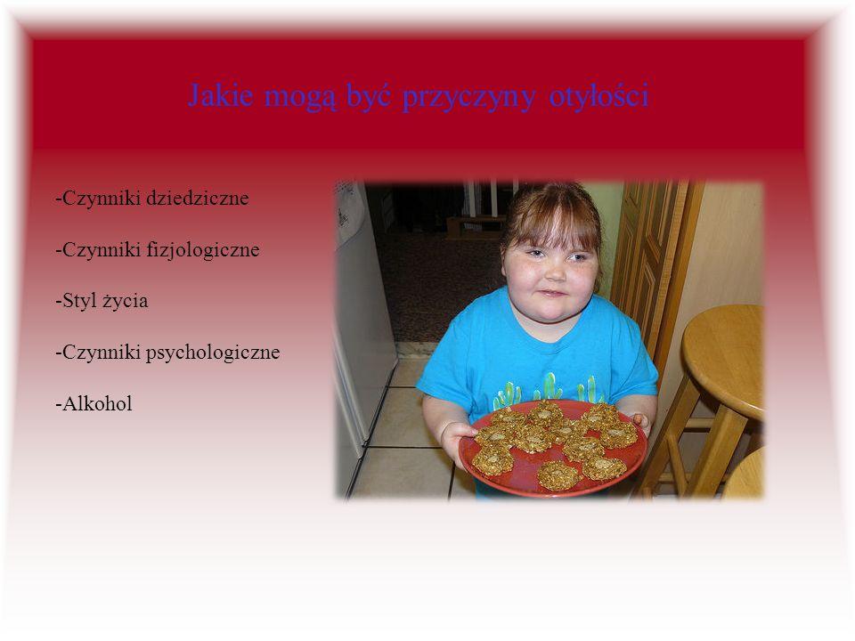 Jakie mogą być przyczyny otyłości -Czynniki dziedziczne -Czynniki fizjologiczne -Styl życia -Czynniki psychologiczne -Alkohol