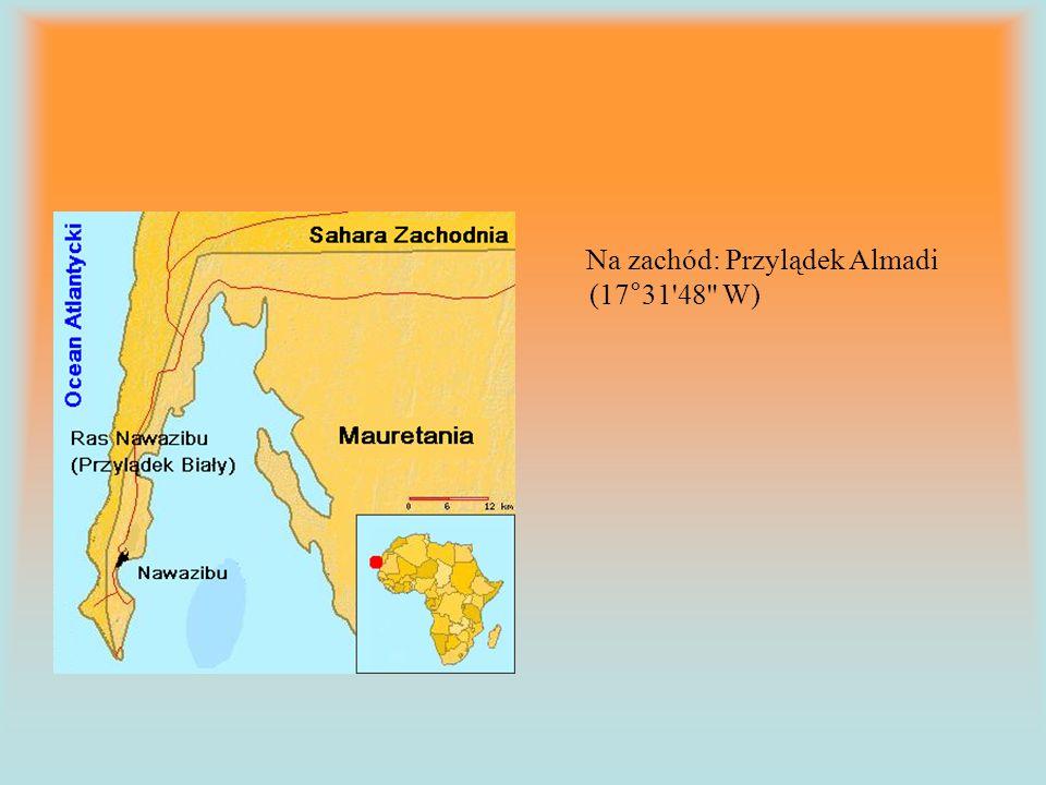 Na zachód: Przylądek Almadi (17°31'48