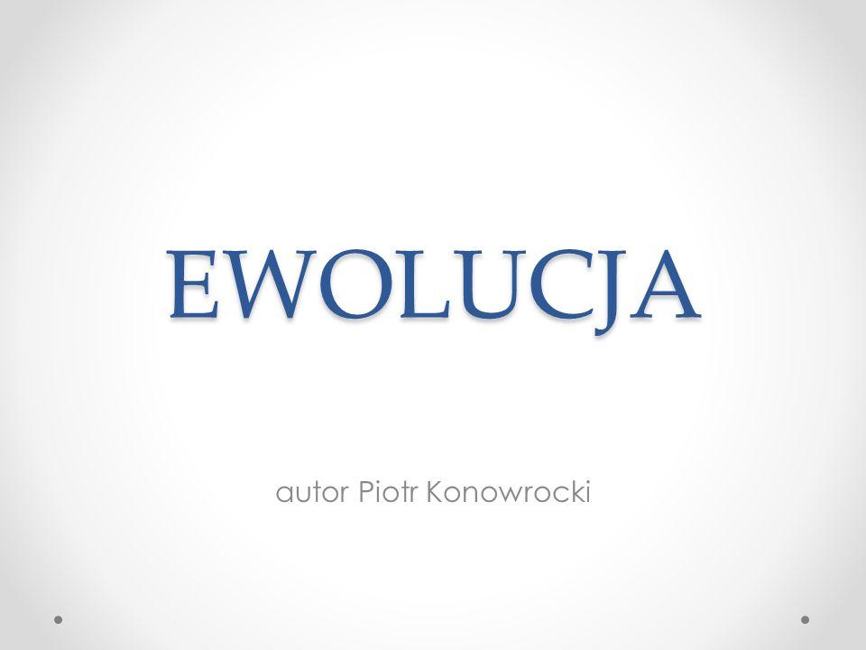 EWOLUCJA autor Piotr Konowrocki