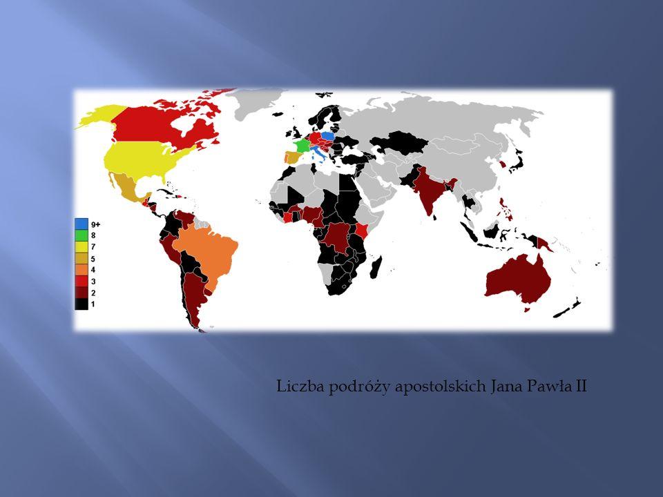 Liczba podróży apostolskich Jana Pawła II