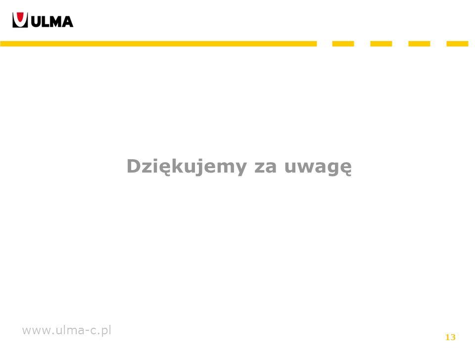 13 www.ulma-c.pl Dziękujemy za uwagę