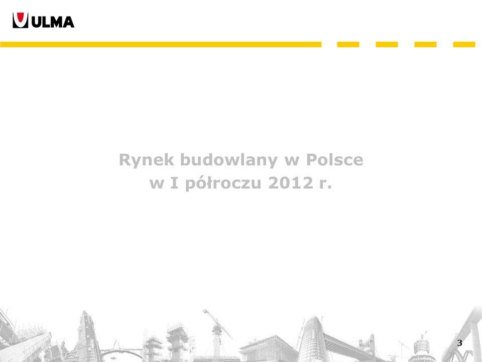 3 Rynek budowlany w Polsce w I półroczu 2012 r.