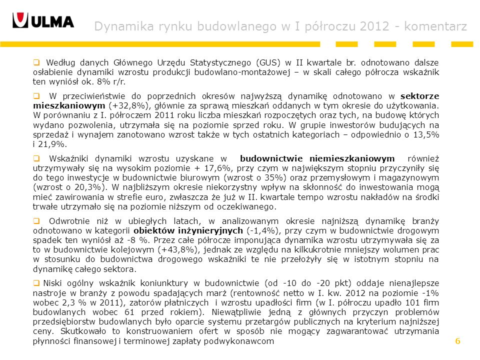 6 Według danych Głównego Urzędu Statystycznego (GUS) w II kwartale br.