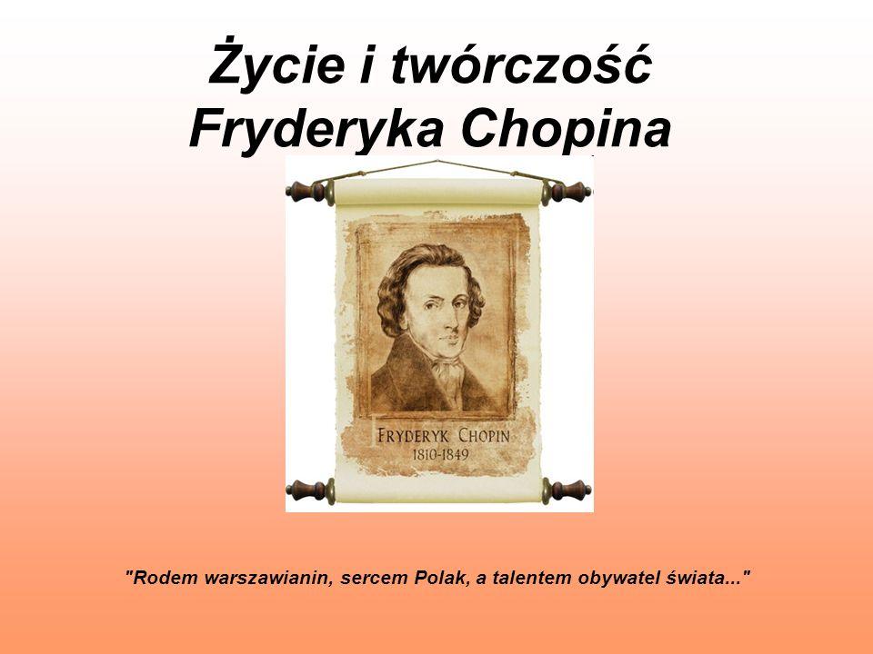 Śmierć Fryderyka Chopina Niestety, ciągle zapracowany, chory, za mało myślał o swoim zdrowiu.