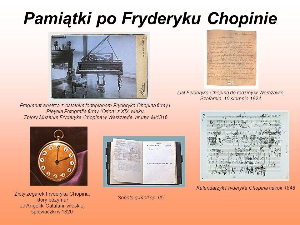 Pamiątki po Fryderyku Chopinie Fragment wnętrza z ostatnim fortepianem Fryderyka Chopina firmy I. Pleyela Fotografia firmy