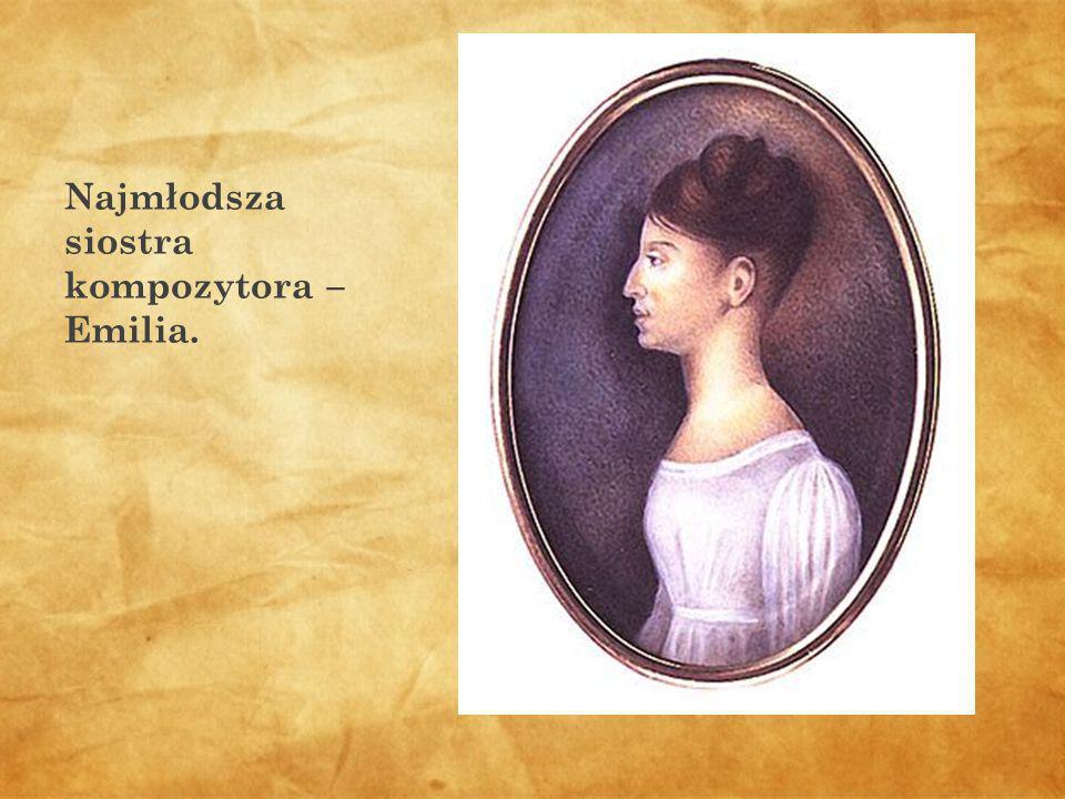 Najmłodsza siostra kompozytora – Emilia.