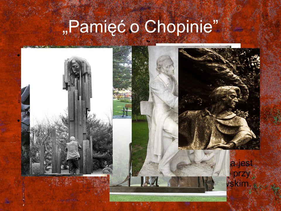 Pamięć o Chopinie Po śmierci Fryderyka Chopina powstało wiele pomników upamiętniających jego dokonania muzyczne. Szkoły występowały z pismami o zmianę