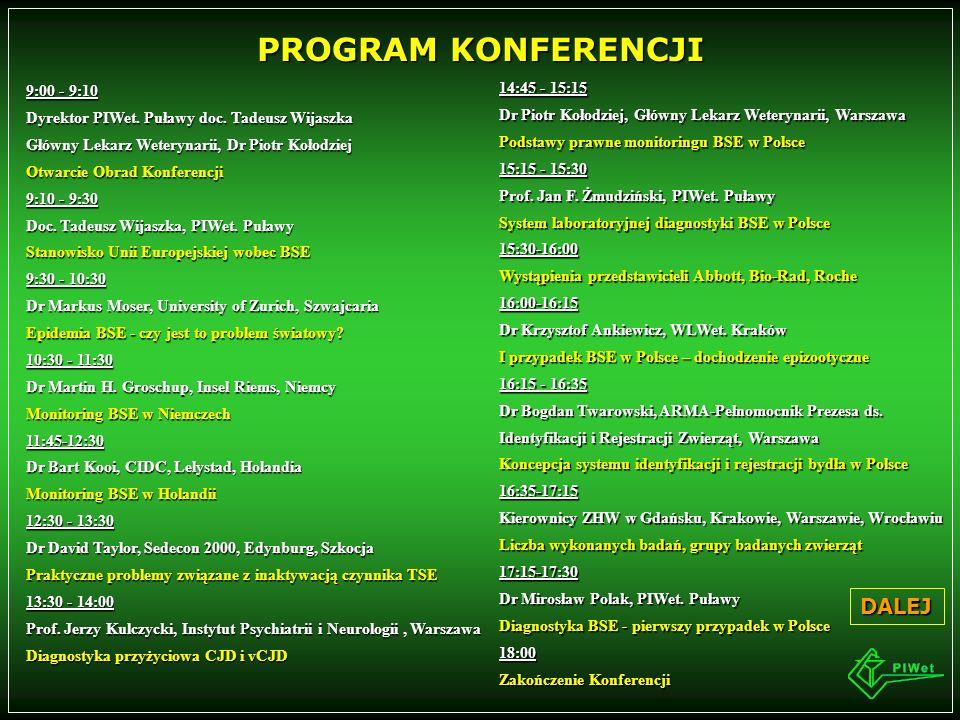 NATIONAL VETERINARY RESEARCHINSTITUTEPAŃSTWOWYINSTYTUTWETERYNARYJNY 24-100 Puławy Al.