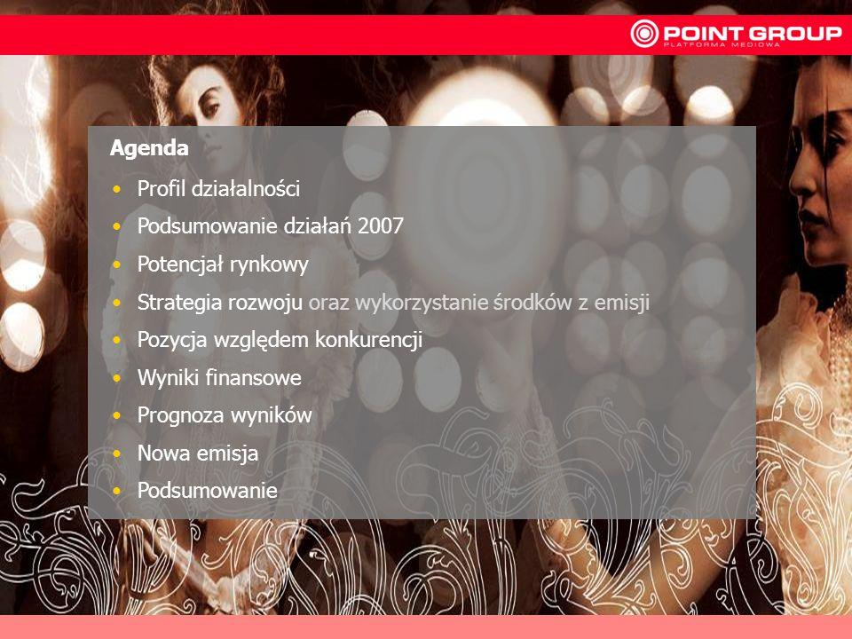 2 Profil działalności Podsumowanie działań 2007 Potencjał rynkowy Strategia rozwoju oraz wykorzystanie środków z emisji Pozycja względem konkurencji W