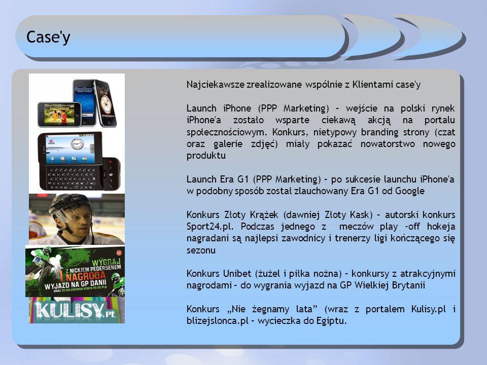 Case'y Najciekawsze zrealizowane wspólnie z Klientami case'y Launch iPhone (PPP Marketing) – wejście na polski rynek iPhone'a zostało wsparte ciekawą
