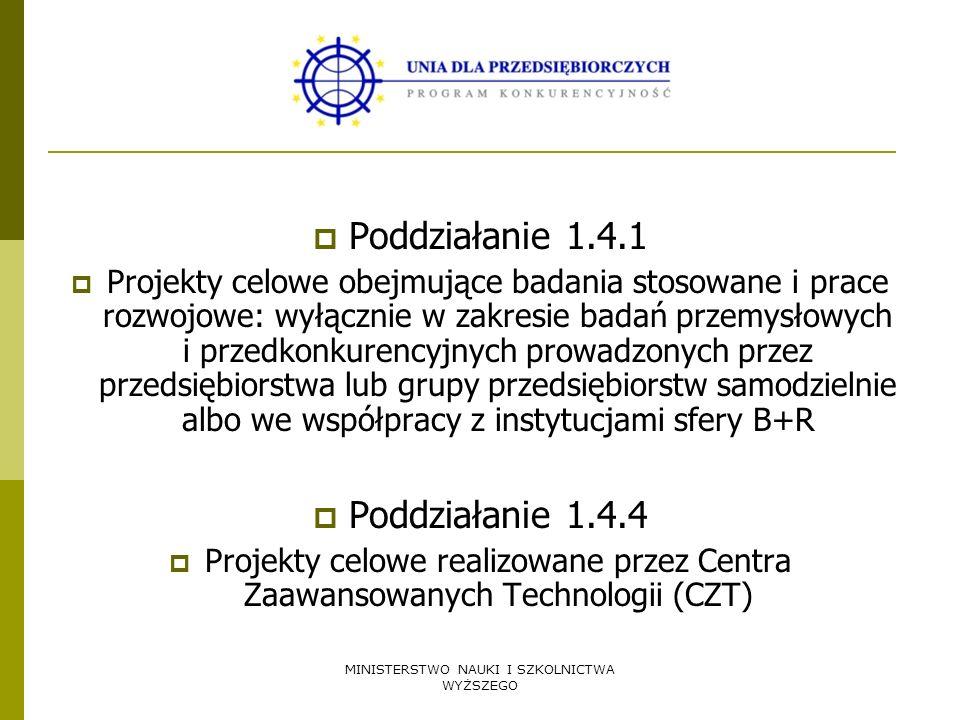 MINISTERSTWO NAUKI I SZKOLNICTWA WYŻSZEGO wniosek o dofinansowanie projektu celowego Wniosek według wzoru określonego w rozporządzeniu Ministra Nauki i Informatyzacji z dnia 4 sierpnia 2005 r.